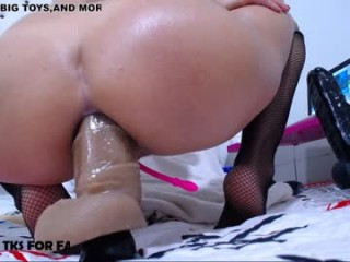 xxisabelaxxx Young brunette training her ass by glass dildo before the big fat dick  destroyed her anal virginity