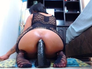 colombia-anal Sexy whore sucks the cock and her lover drills her hole with fingers.