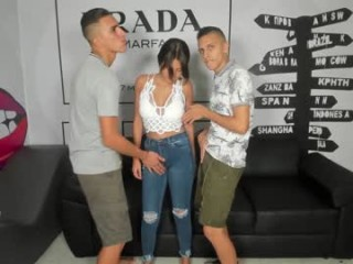 filthymindxxx Guy banging two brunette cuties in their tight assholes