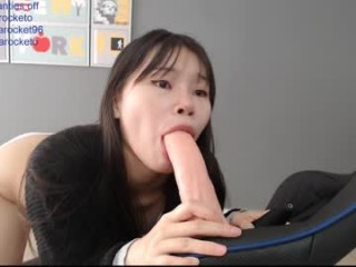 minarocket_ One hard cock in her tight butt and the other one in pussy.